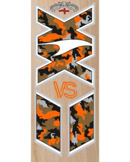 VS Orange Kamo/Clear XX Cricket Bat